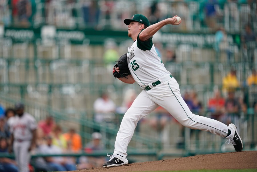 San Diego Padres' prospect Ryan Weathers pitches for Fort Wayne TinCaps