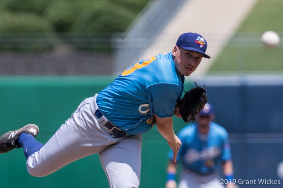 Padres prospect Lake Bachar pitches for Amarillo Sod Poodles