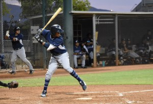 Padres prospect Junior Perez bats in the AZL
