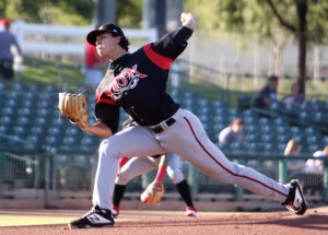 Joey Cantillo Padres prospect pitches for Lake Elsinore Storm