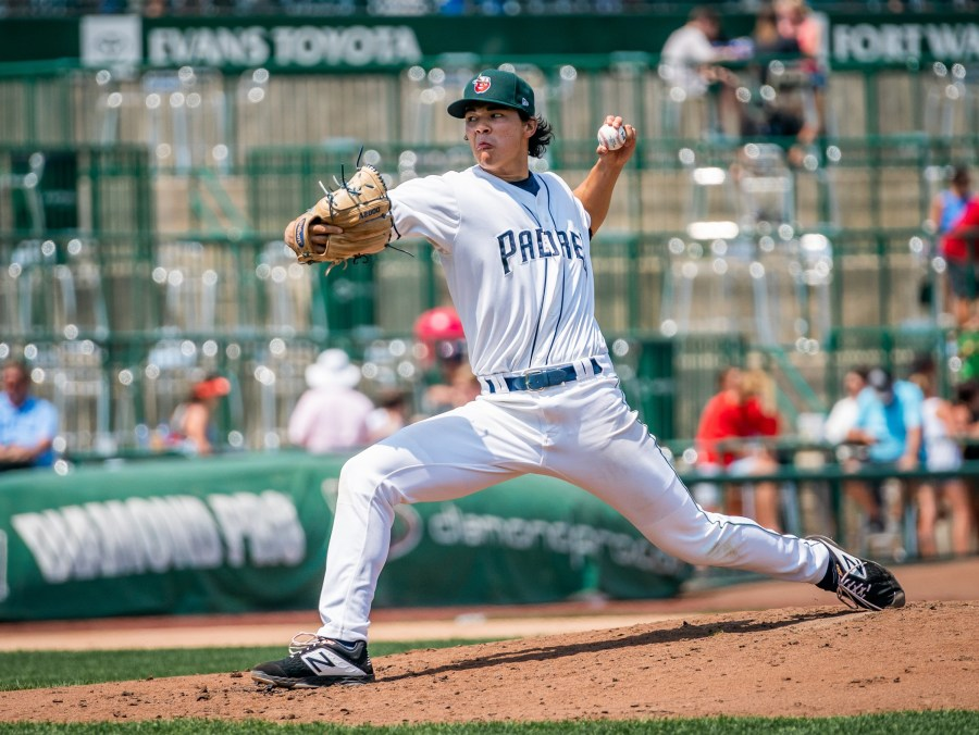 Joey Cantillo, Padres prospect pitching for Fort Wayne TinCaps