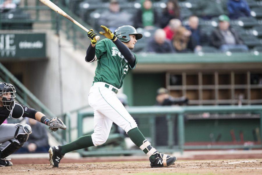Agustin Ruiz San Diego Padres prospect bats for Fort Wayne TinCaps.