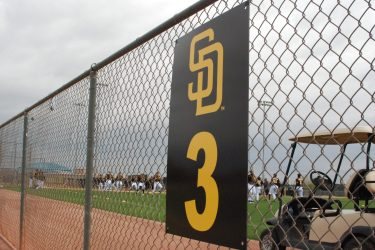 Padres prospects work out at Peoria Sports Complex