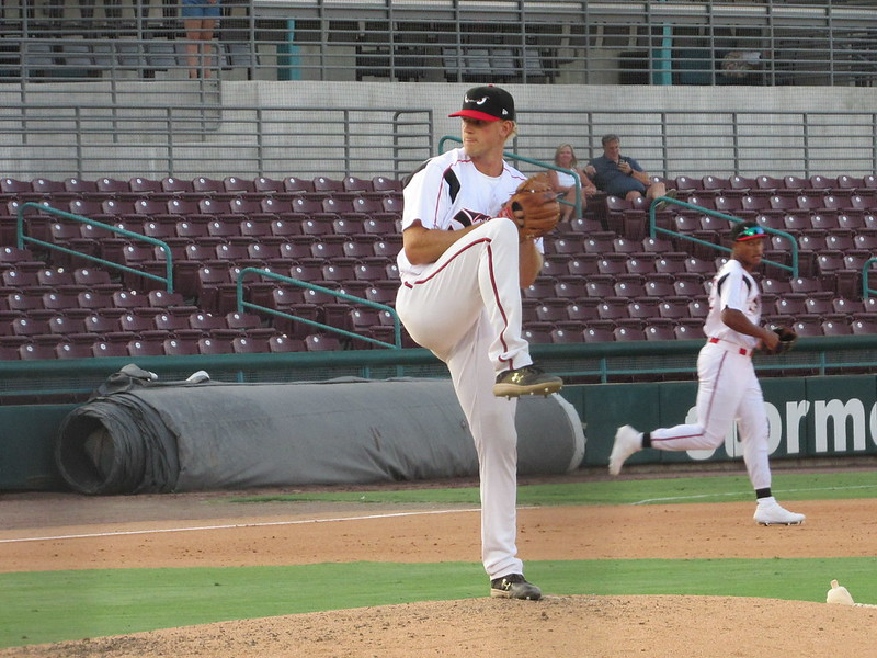 Padres prospect Cullen Dana pitches for the Lake Elsinore Storm