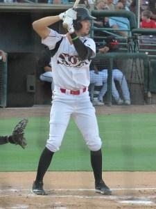 Padres prospect Jarryd Dale bats for the Lake Elsinore Storm