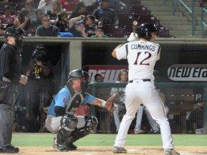 Padres prospect Cole Cummings bats for Lake Elsinore Storm