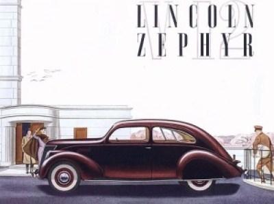 1936 Lincoln Zephyr Ad