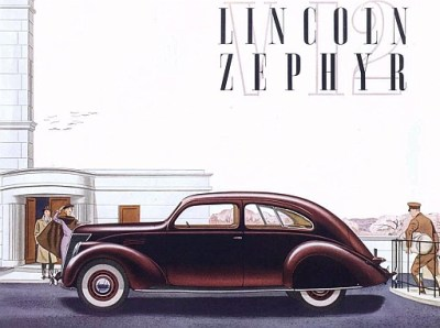 1936 Lincoln Zephyr Ad