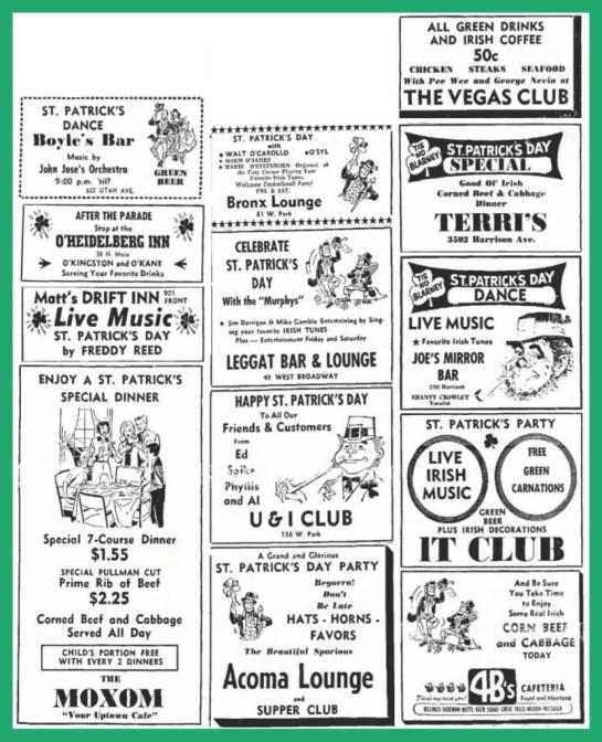 Corn Beef, Vintage Ads & Happy St. Patricks