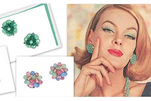 vintage cluster bead earrings