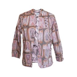 1960s Pink Mandarin Jacket by Jeanne Valentine French Original