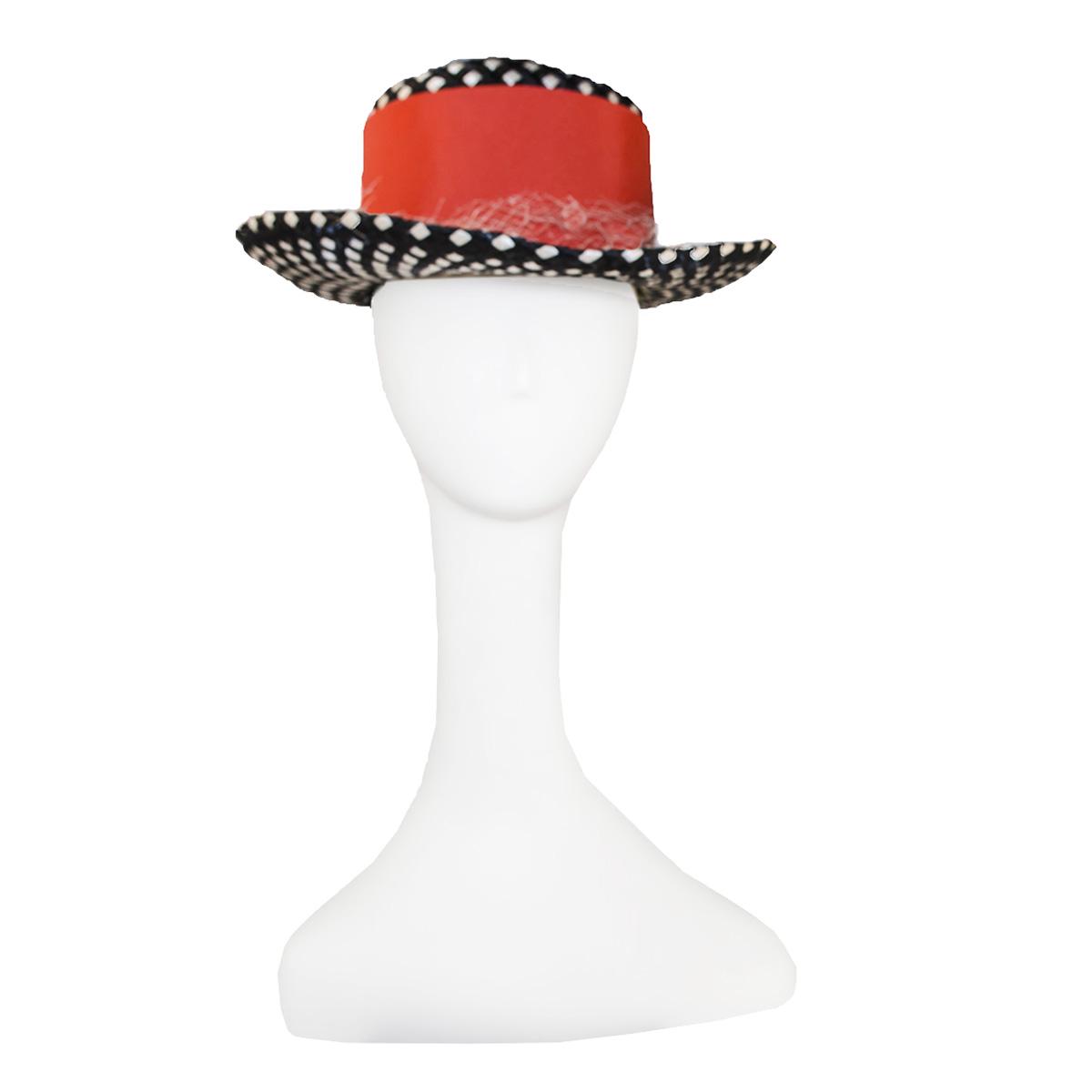 leslie james polka dot hat