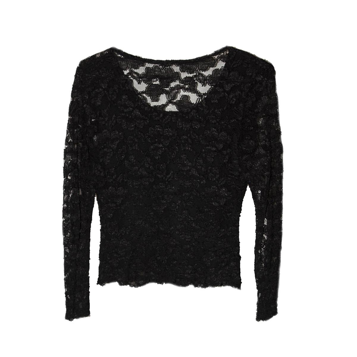 vintage black lace top