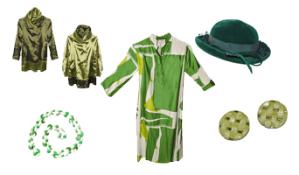 Vintage green fashion