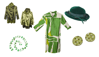 Vintage green fashion