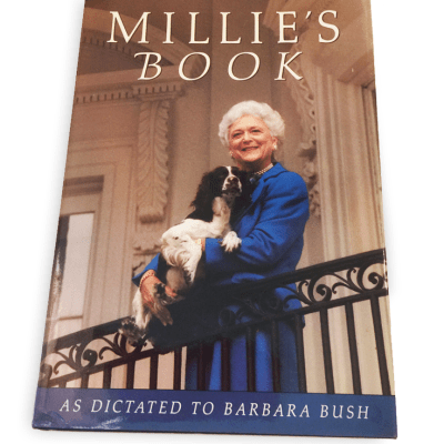 Barbara Bush and Millie