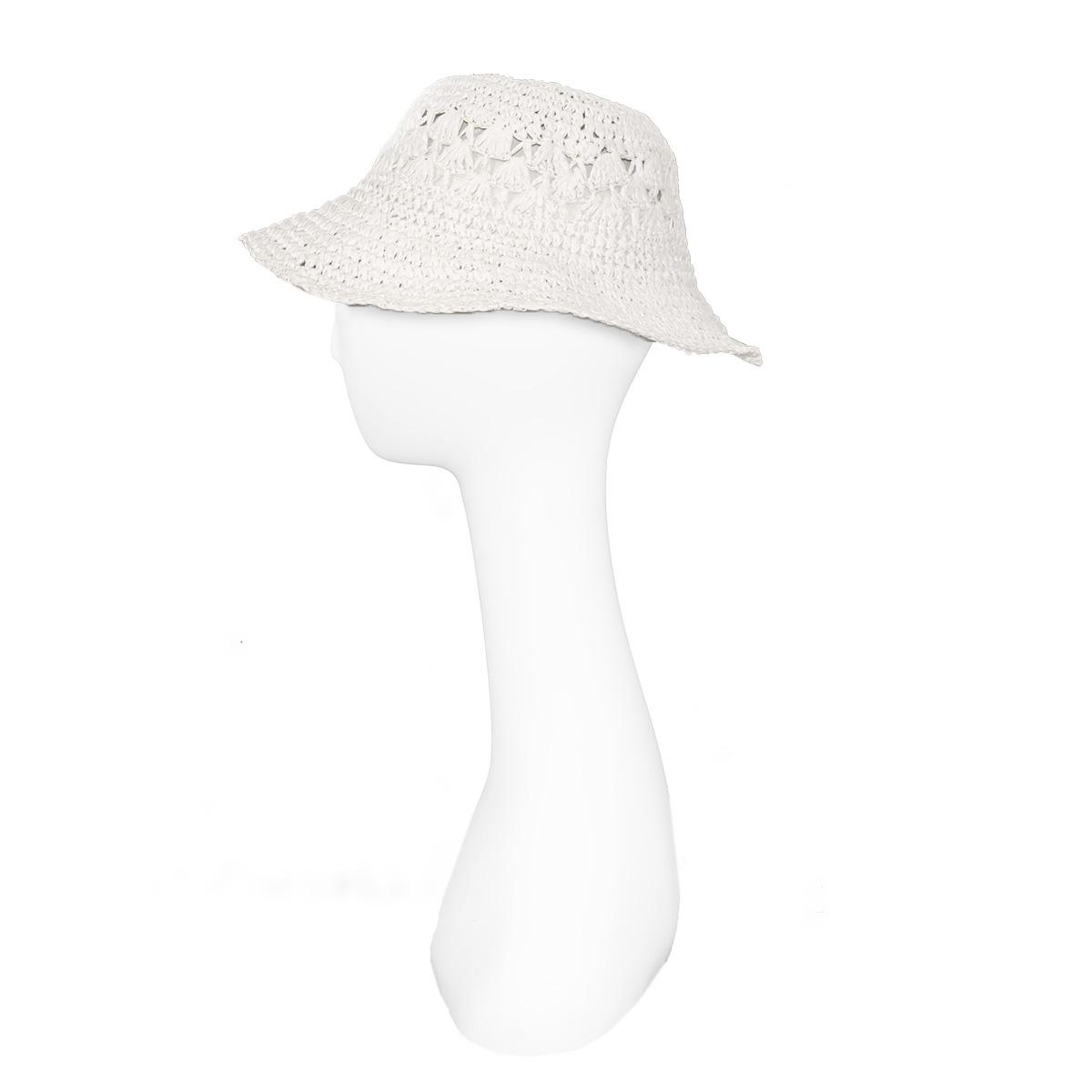 white summ hat