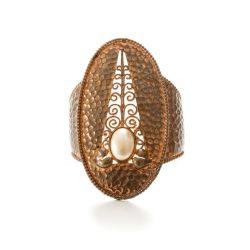 Karl Lagerfeld Copper Cuff Statement Bracelet