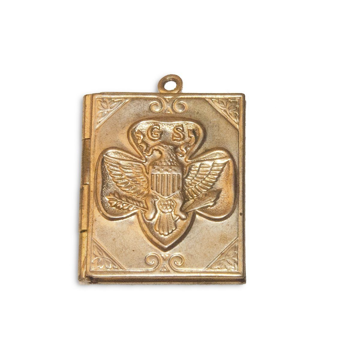 Vintage Girl Scout Book Locket