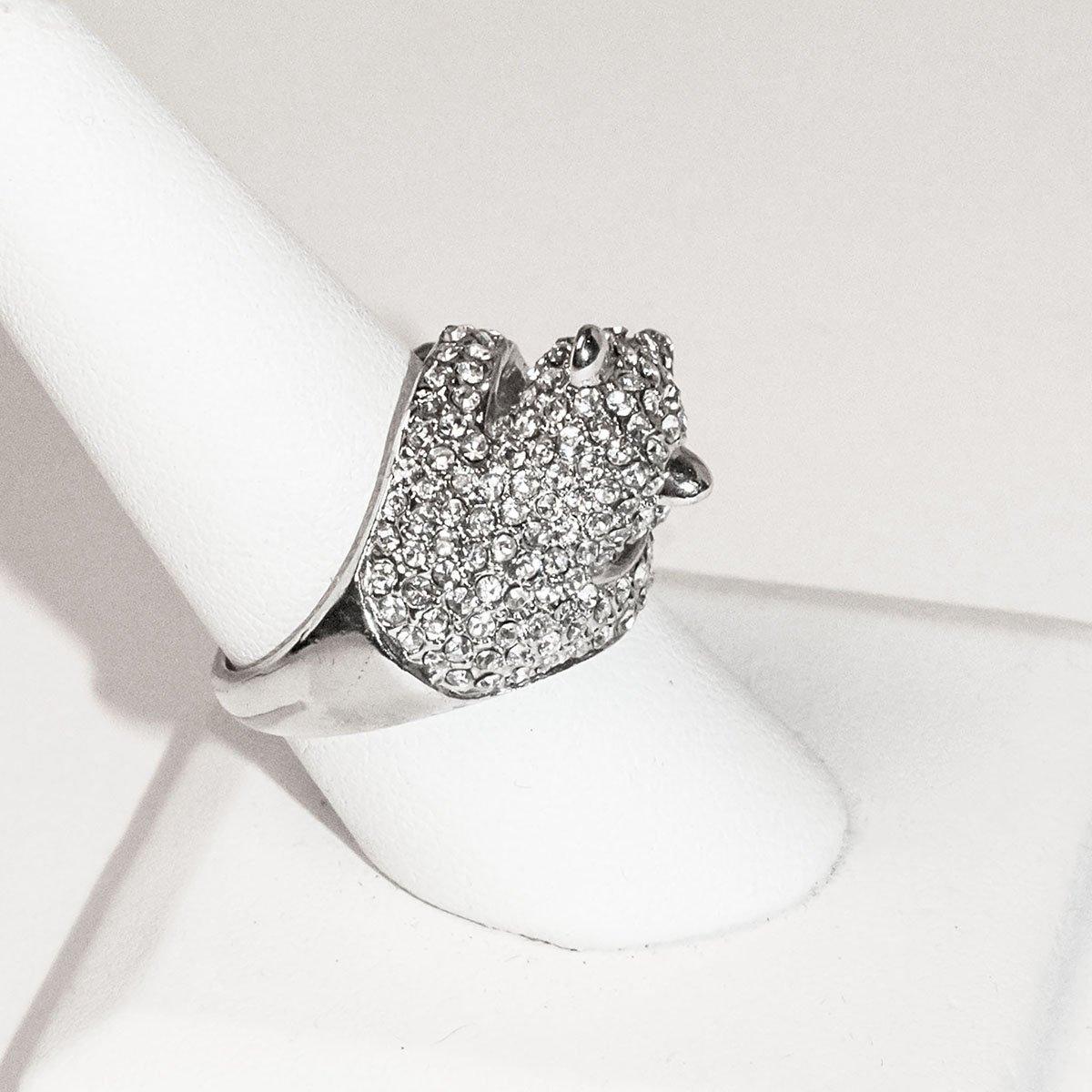 Leopard Rhinestone Ring, Size 9.5