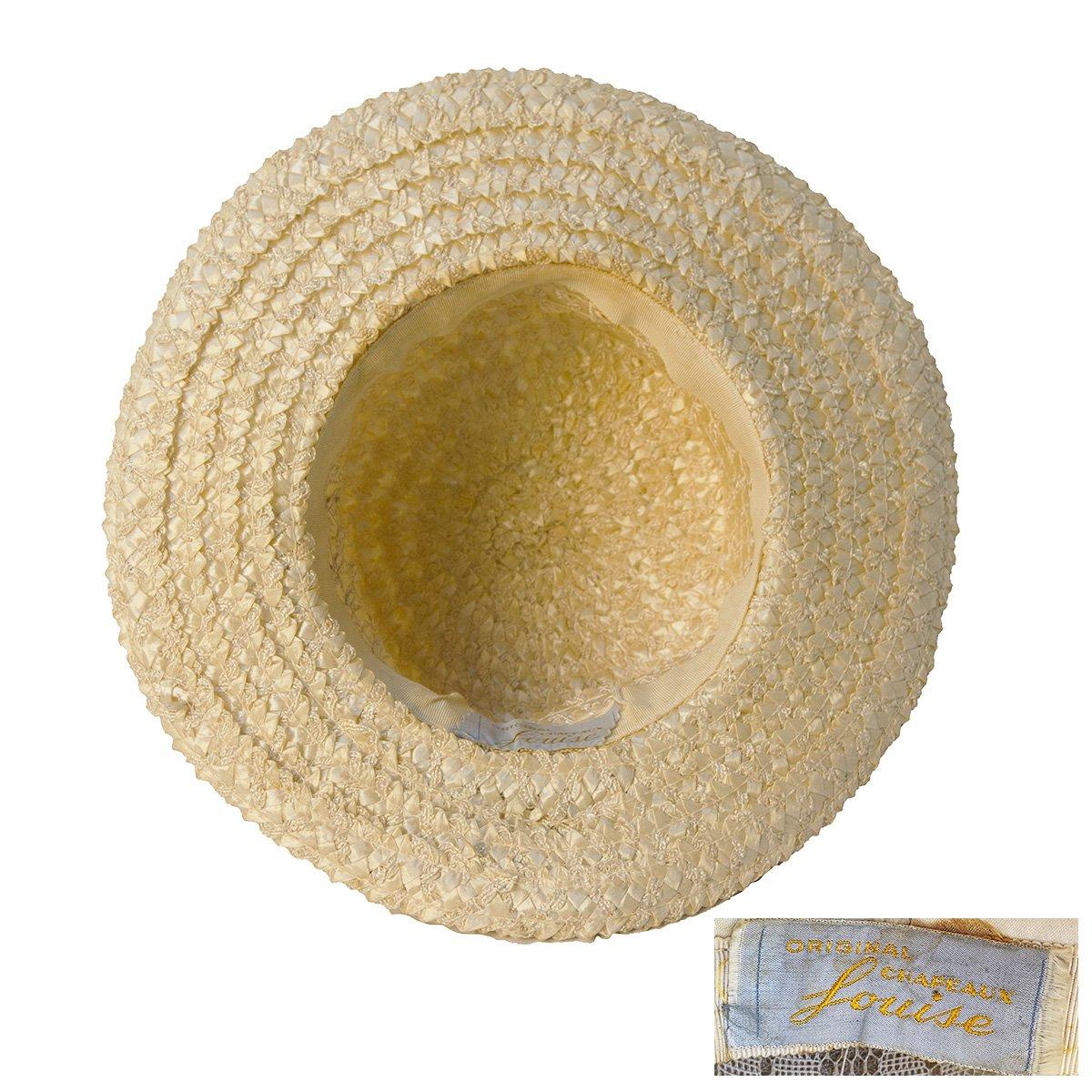1960s Louise Original Chapeaux Vintage Straw Hat