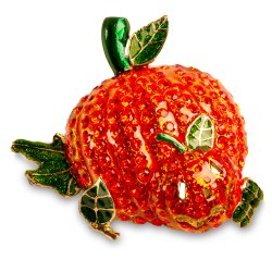 vintage pumpkin pin, jack o lantern jewelry