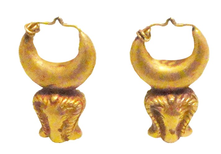 Ancient Egyptian earrings