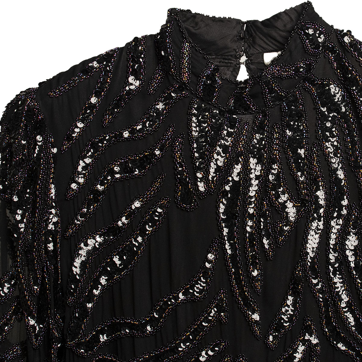 Black beaded top