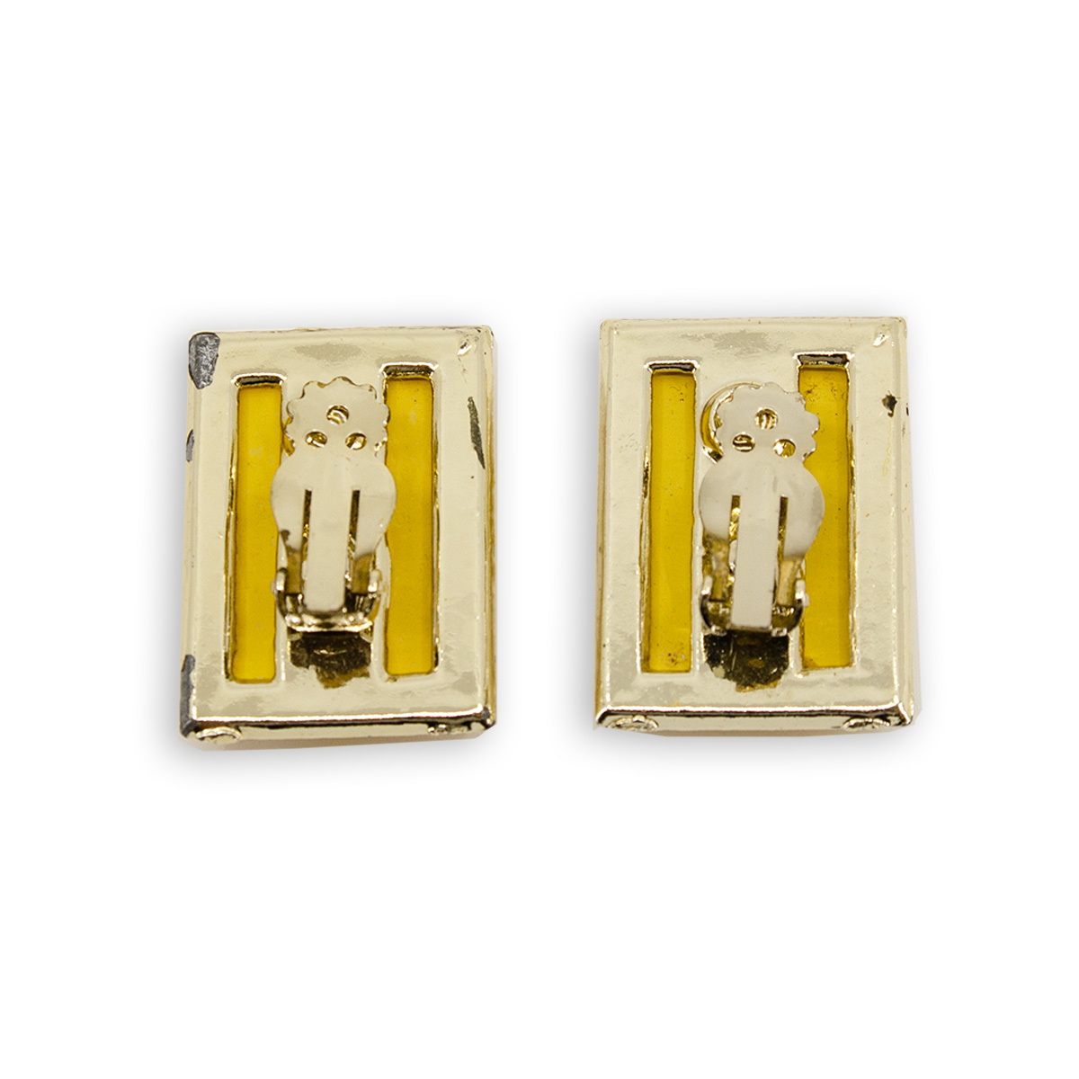 vintage lucite clip earrings