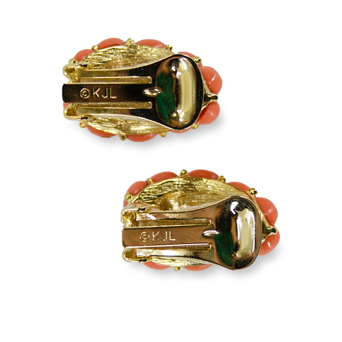KJL earrings, clip earrings