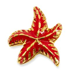 Yves Saint Laurent brooch, starfish pin