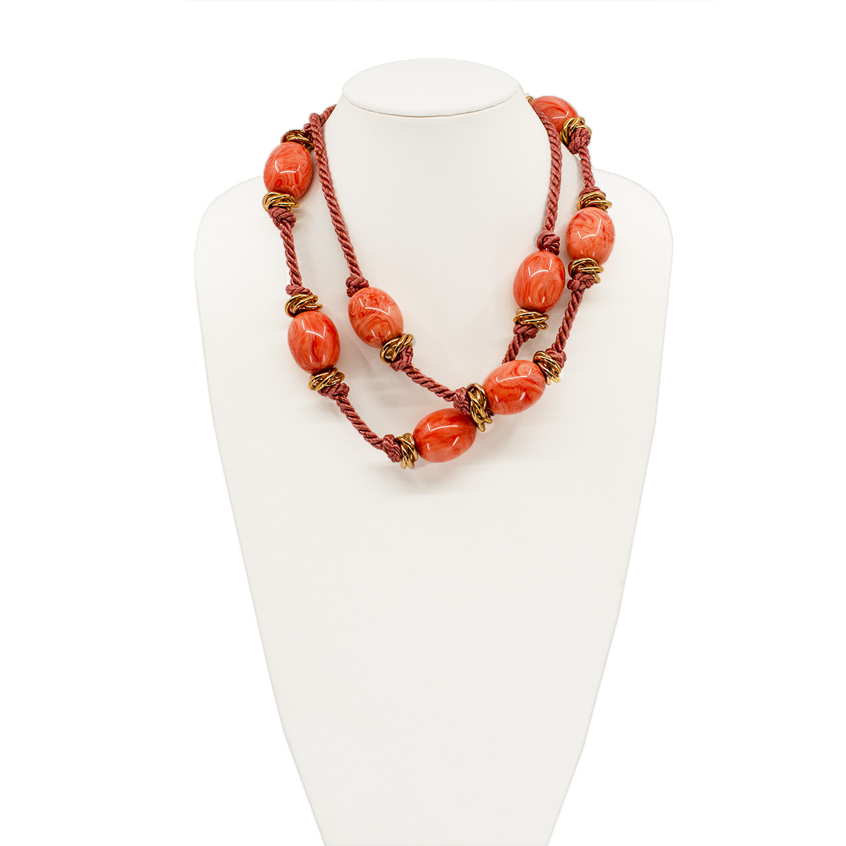 ysl glass bead necklace