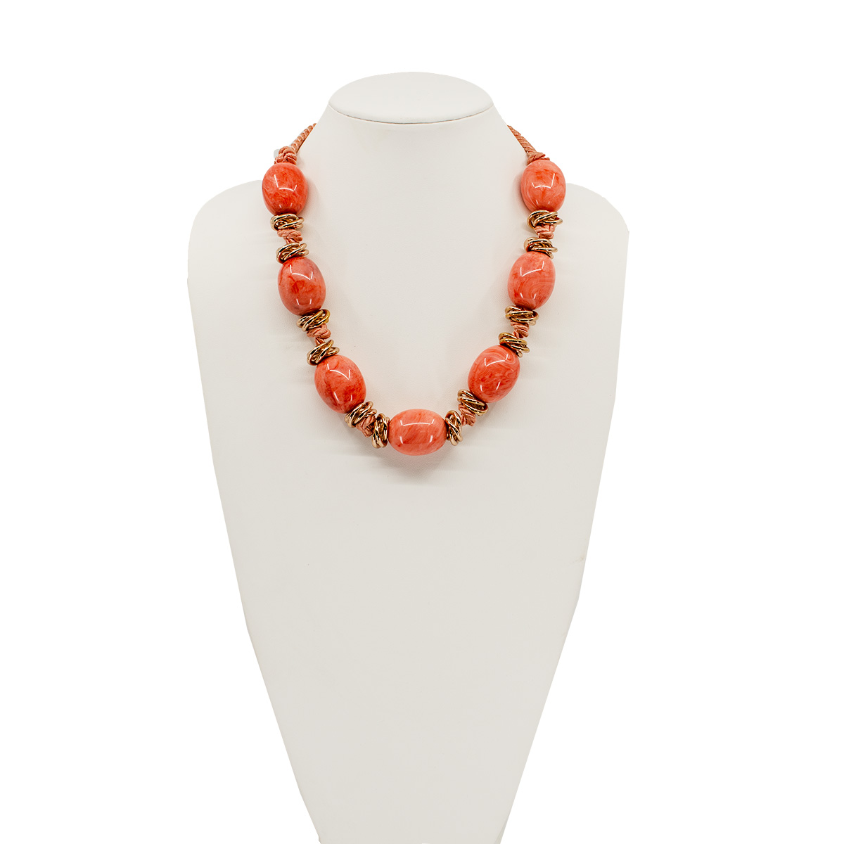 large glass bead necklace