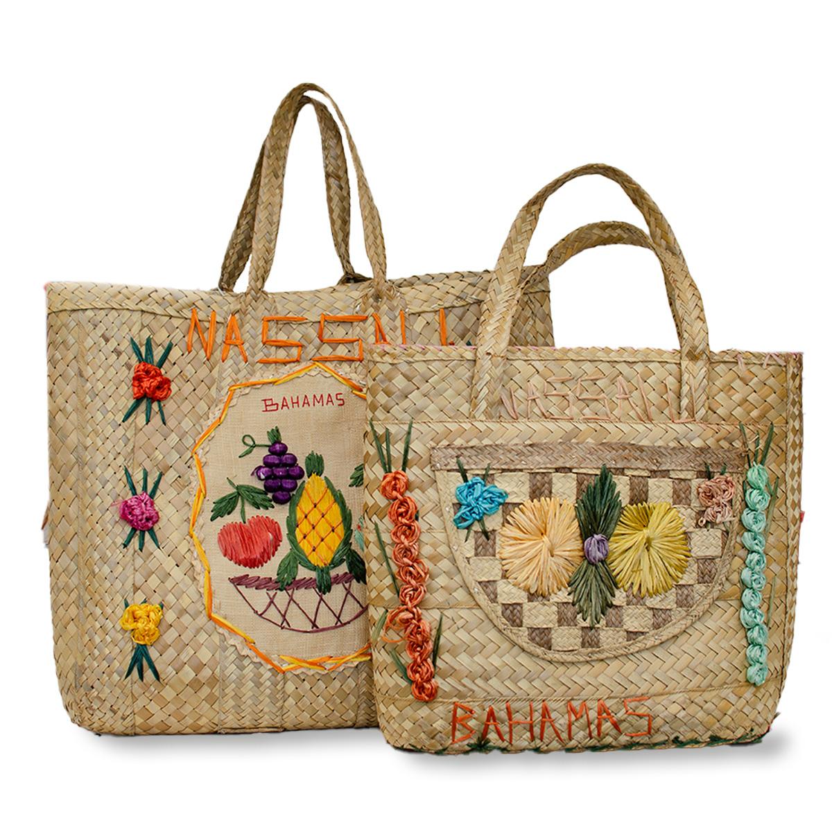 vintage straw tote bags