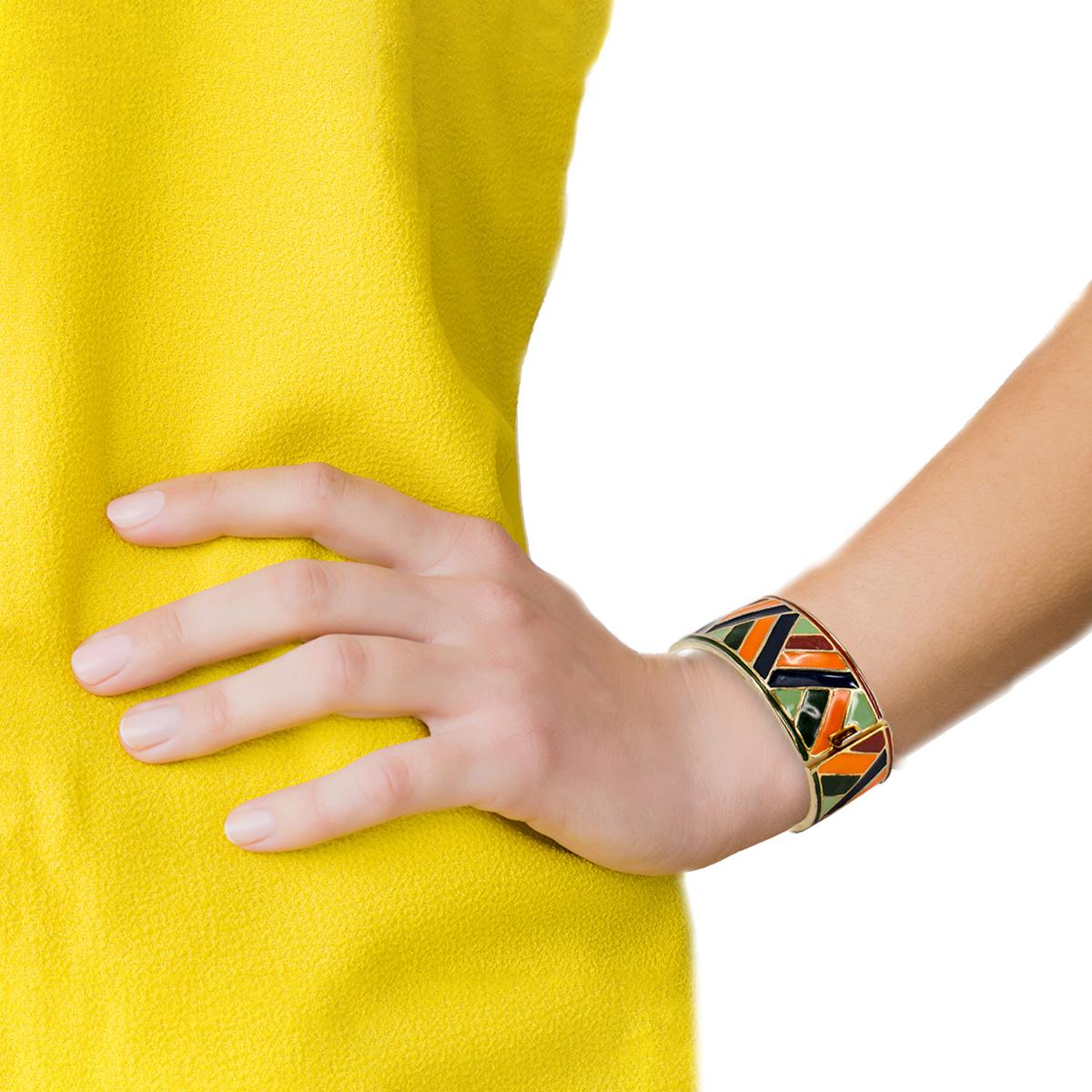 Roger Scemama Yves Saint Laurent enamel bracelet