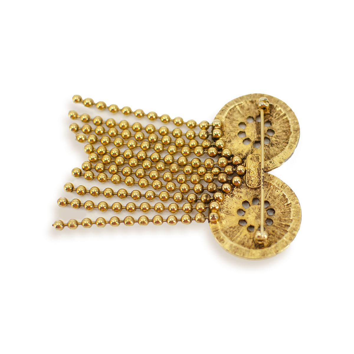 YSL gold brooch