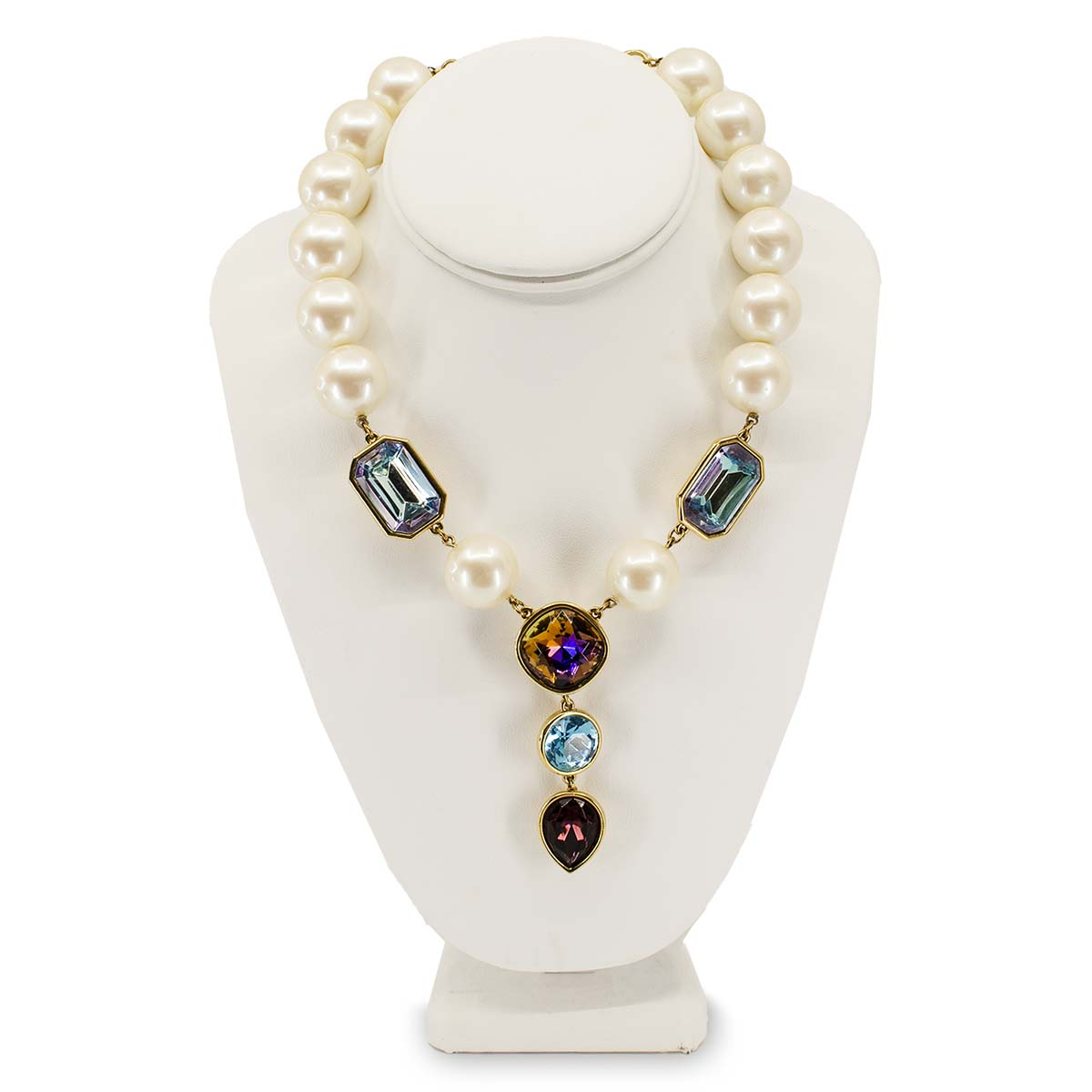 Yves Saint Laurent Ysl pearl necklace