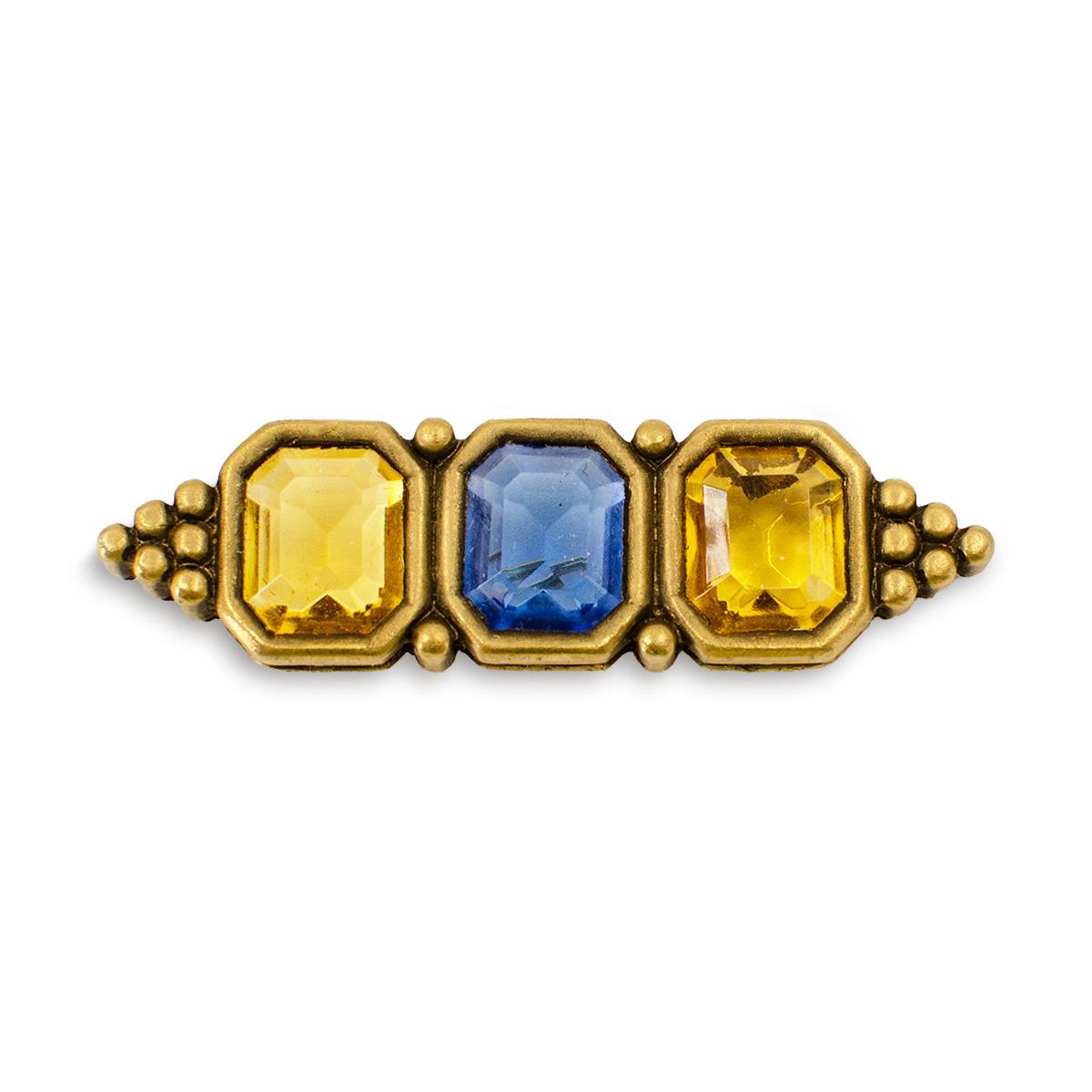 Crystal brooch, ysl bar pin