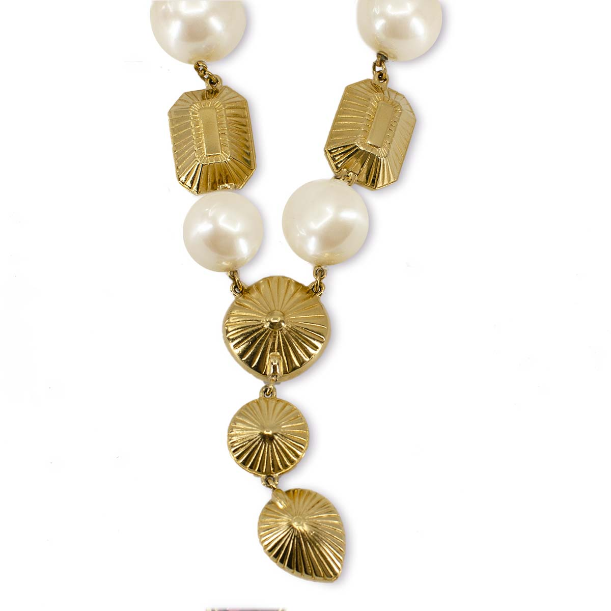 YSL pearl necklace, large pearls