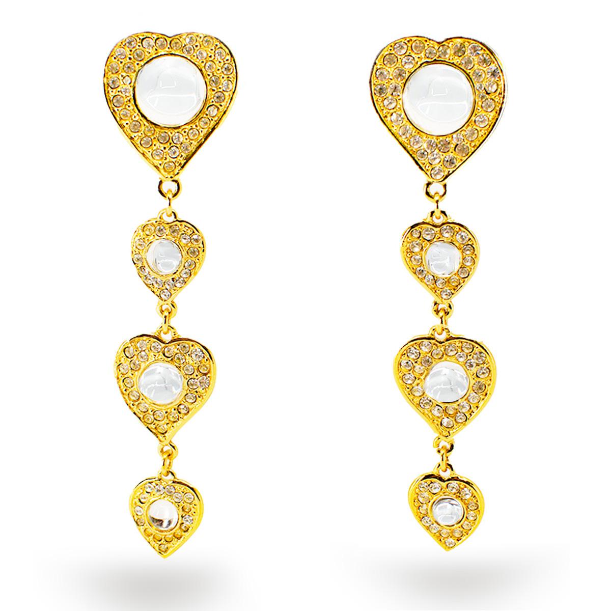 YSL heart earrings