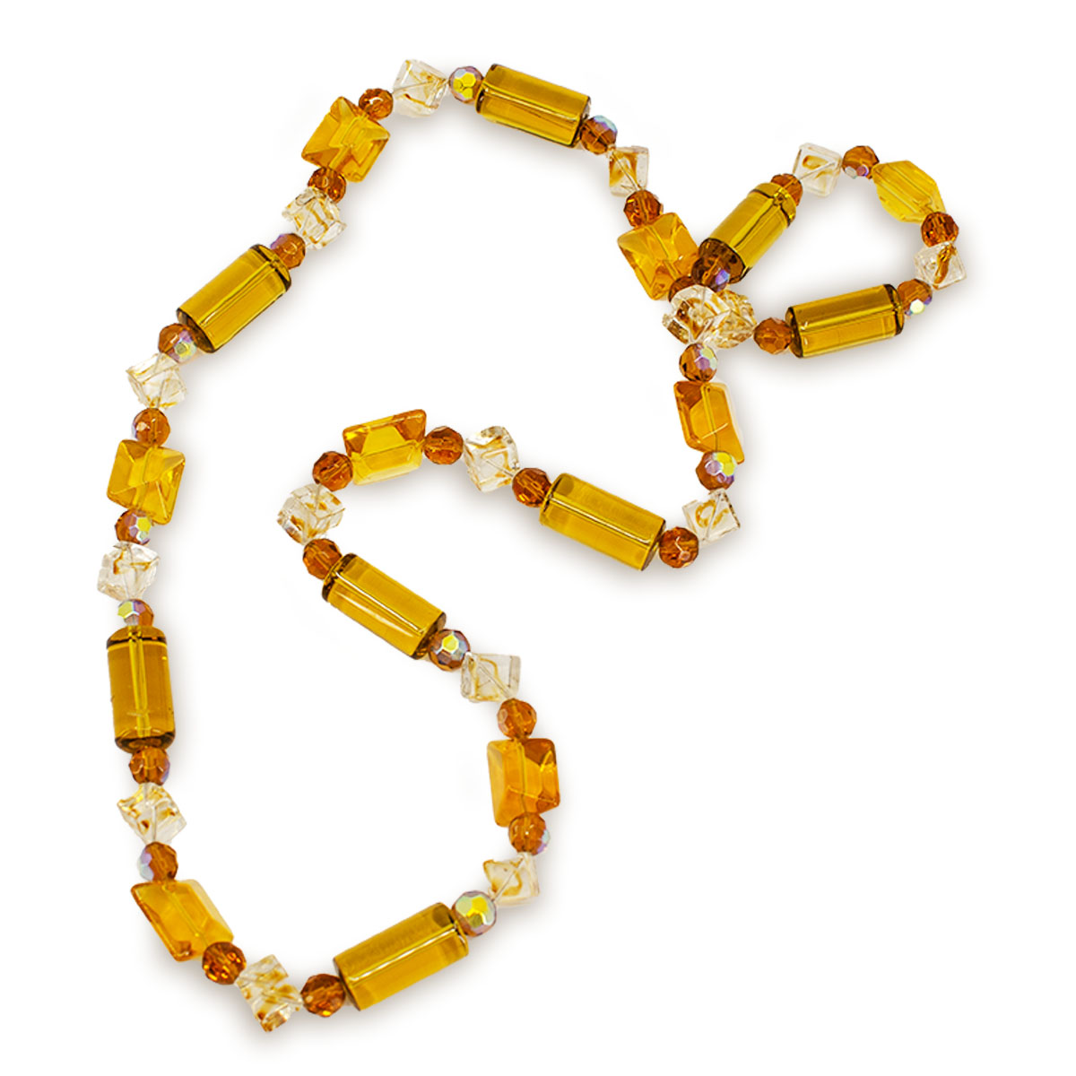 vintage chunky necklace, yellow necklace