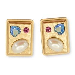 YSL Jeweled earrings