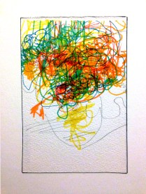 <<>>, 2015; 16 potential marker choices on paper mounted to board; 8x10 inches, object size