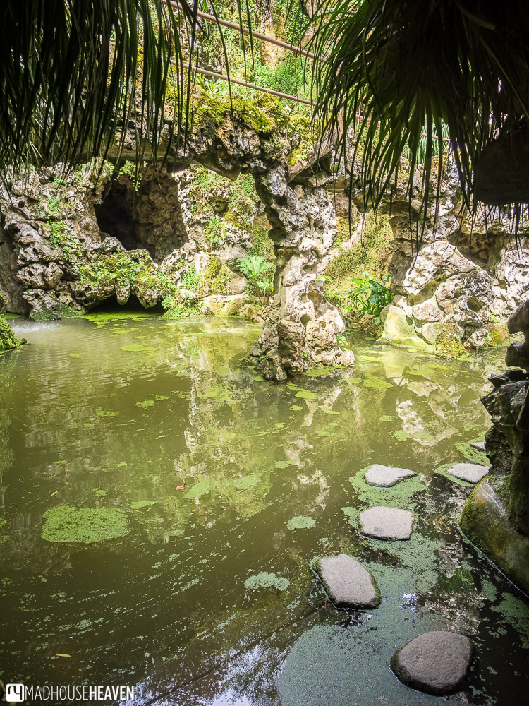 The Lake of the Waterfall, the Initiation Well exit in Quinta da Regaleira