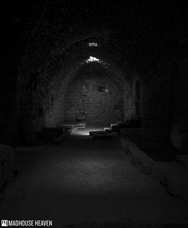ancient crusader stronghold, Karak, medieval cellar, fortress from antiquity