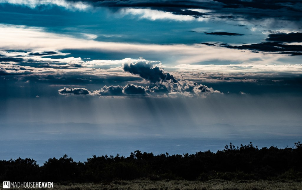 Wide expanse of the African savannah that surrounds Mount Kenya