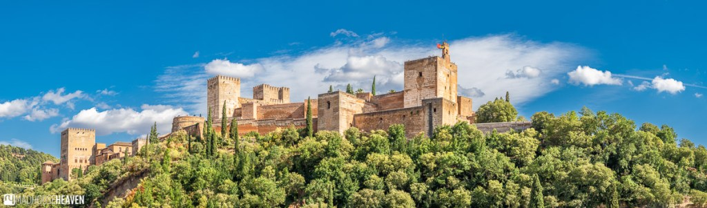 View of Alhambra from Albaicín, the old part of Granada