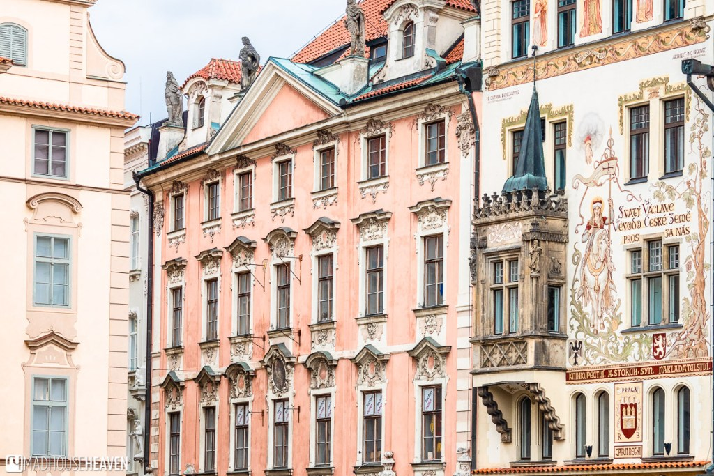 fairytale buildings in Prague's old town