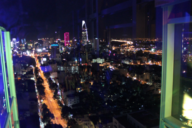 Night view of the city from Hotel pullman, Saigon