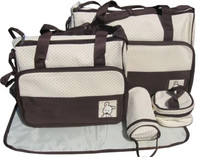 becute-diaper-bag-combo-5-in-1-brown-